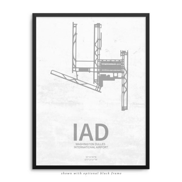IAD Airport Poster