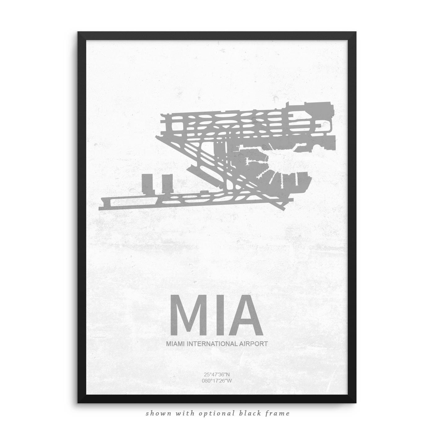 mia airport poster