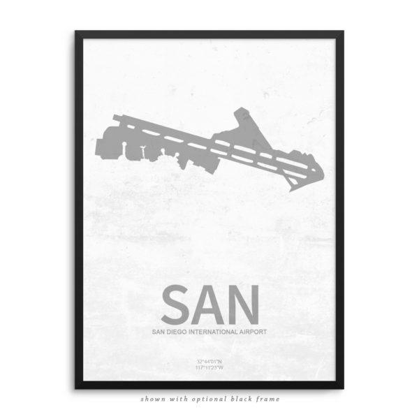 SAN Airport Poster