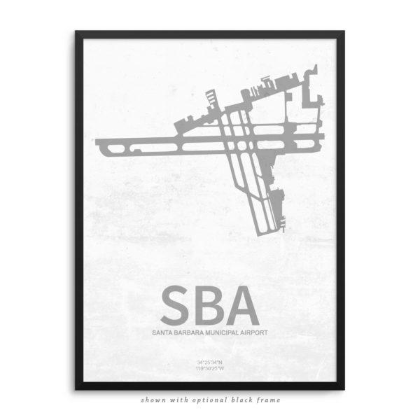 SBA Airport Poster