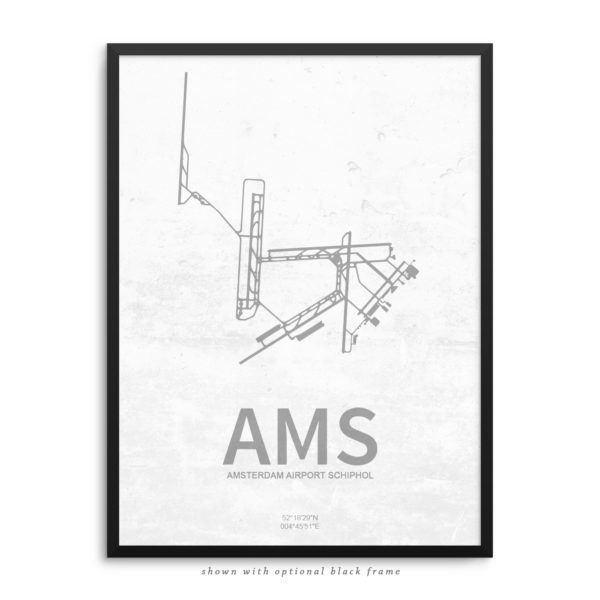 AMS Airport Poster