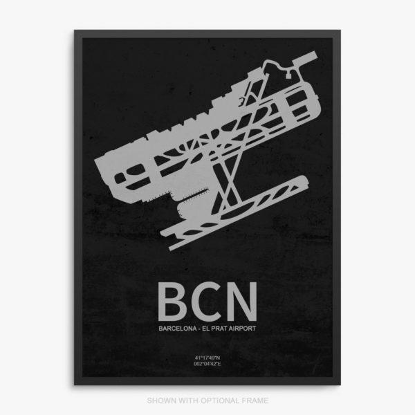 BCN Airport Poster