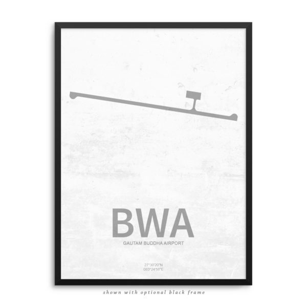 BWA Airport Poster