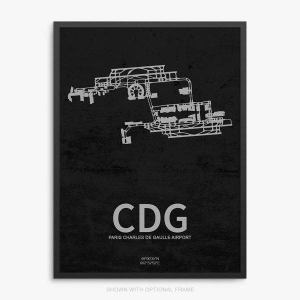 CDG Airport Poster