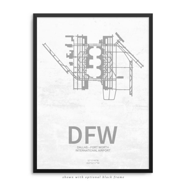 DFW Airport Poster