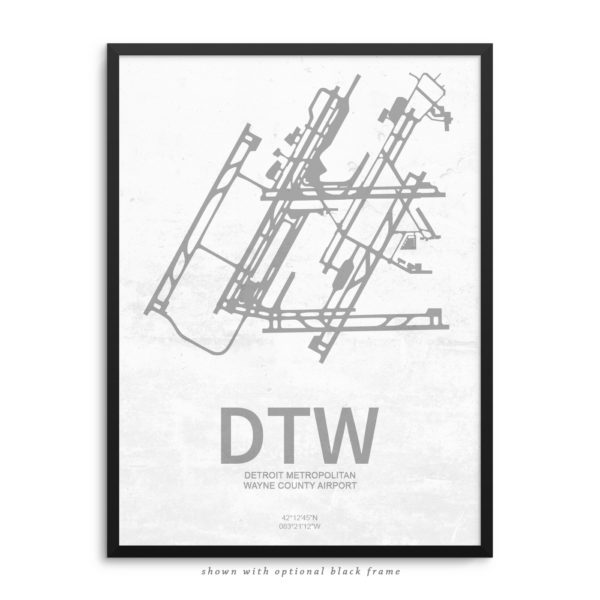DTW Airport Poster
