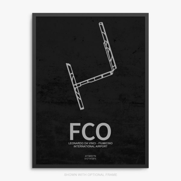 FCO Airport Poster
