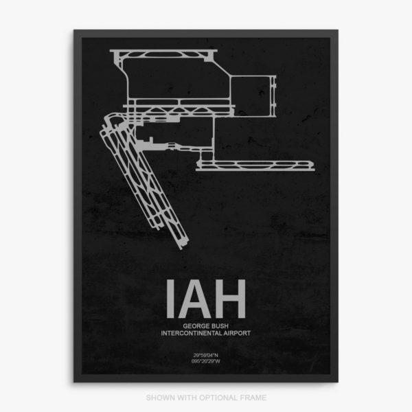 IAH Airport Poster