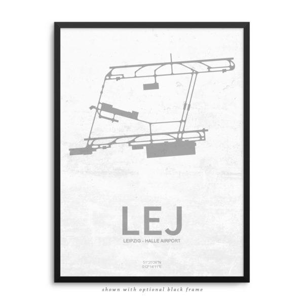 LEJ Airport Poster