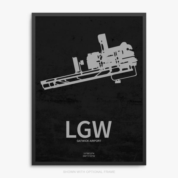 LGW Airport Poster