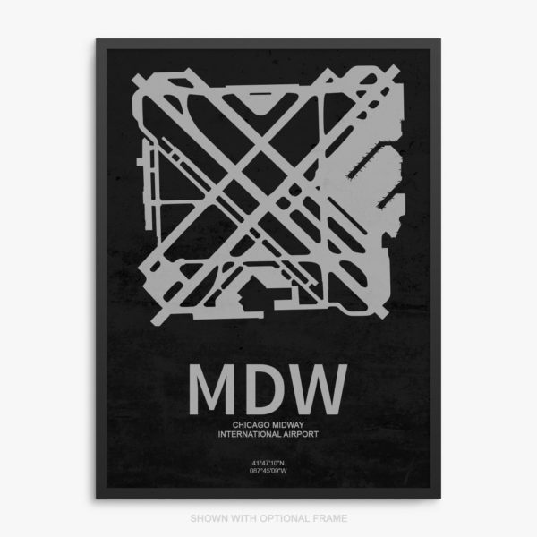 MDW Airport Poster