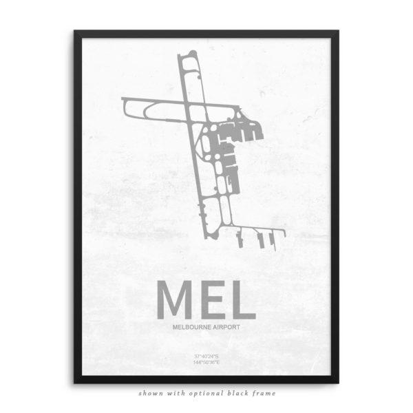 MEL Airport Poster