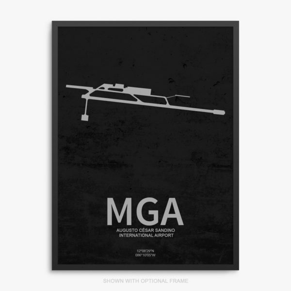 MGA Airport Poster