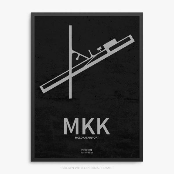 MKK Airport Poster