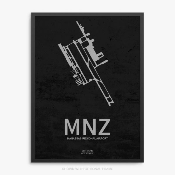 MNZ Airport Poster