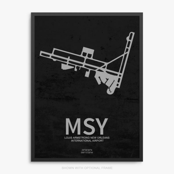 MSY Airport Poster