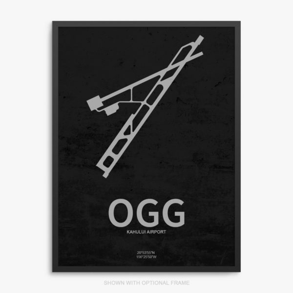 OGG Airport Poster