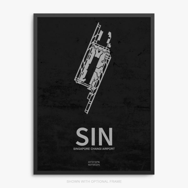 SIN Airport Poster