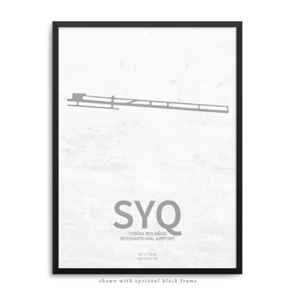 SYQ Airport Poster