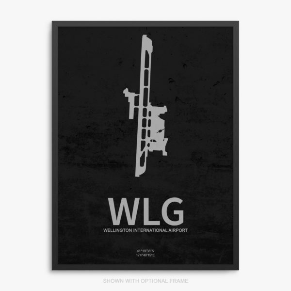 WLG Airport Poster