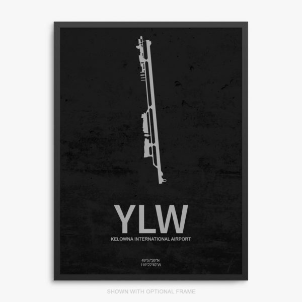 YLW Airport Poster
