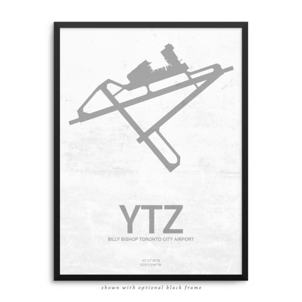 YTZ Airport Poster