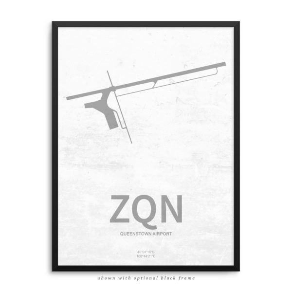 ZQN Airport Poster