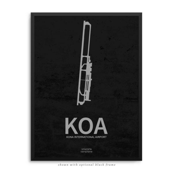 KOA Airport Poster