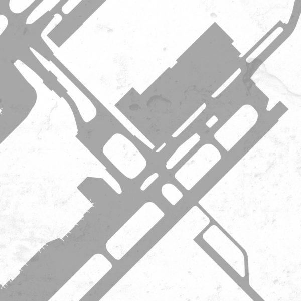 RDU Airport Poster Detail