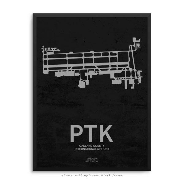 PTK Airport Poster