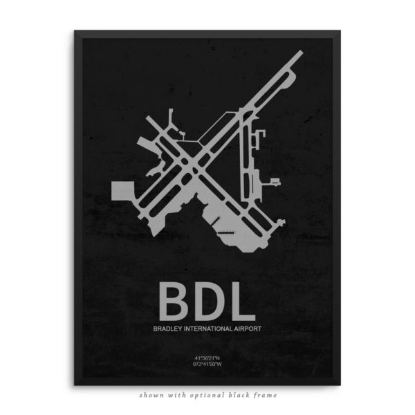 BDL Airport Poster